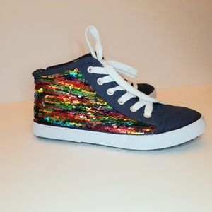 New Cat & Jack  Zandra Sequins ankle sneakers.